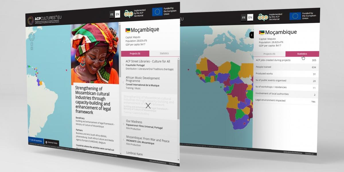 ACP Cultures+ Interactive Map